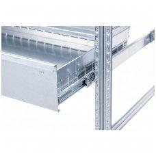 Metaliniai stalčiai stelažams 1200x400x99 mm