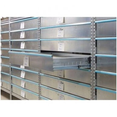 Metaliniai stalčiai stelažams 1200x400x99 mm 2