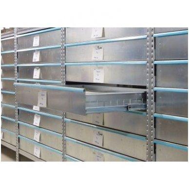 Metaliniai stalčiai stelažams 1200x500x66 mm 2