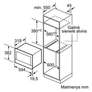 Mikrobangų krosnelės Siemens BF634RGW1 2