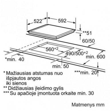 Kaitlentė Siemens ED652FSB5E 2