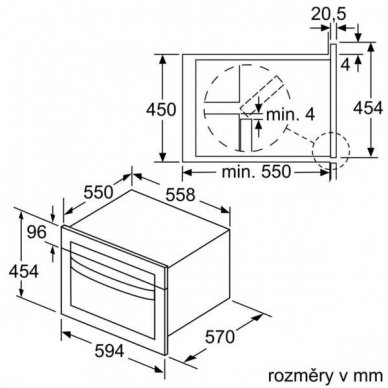 Mikrobangų krosnelė Bosch CMA585MS0 2