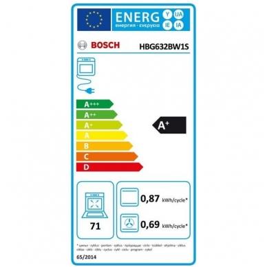 Orkaitės Bosch HBG632BW1S 3