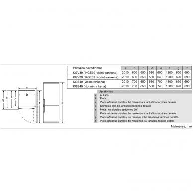 Šaldytuvas Bosch KGE39AICA 3